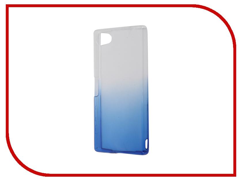 Аксессуар Чехол Sony Xperia Z5 Compact IQ Format Silicone Blue<br>