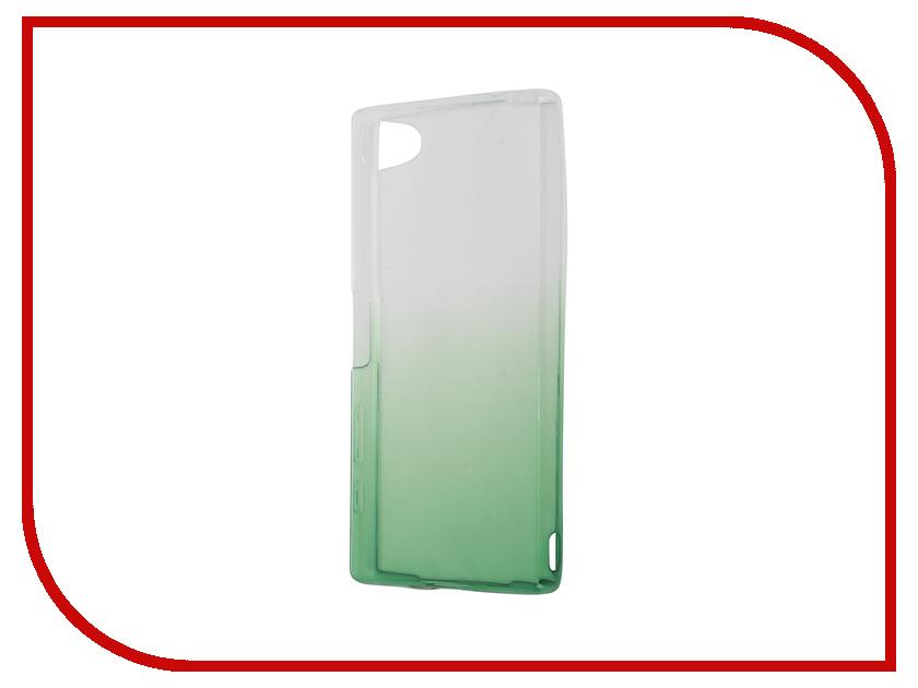 Аксессуар Чехол Sony Xperia Z5 Compact IQ Format Silicone Green<br>