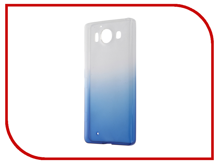 Аксессуар Чехол-накладка Microsoft Lumia 950 IQ Format Blue<br>