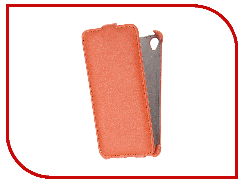 Аксессуар Чехол Sony Xperia XA Activ Flip Case Leather Orange 57567