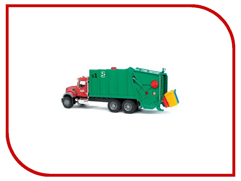Игрушка Bruder MACK мусоровоз 02-812 игрушка tonka minis мусоровоз musorovoz ast51296