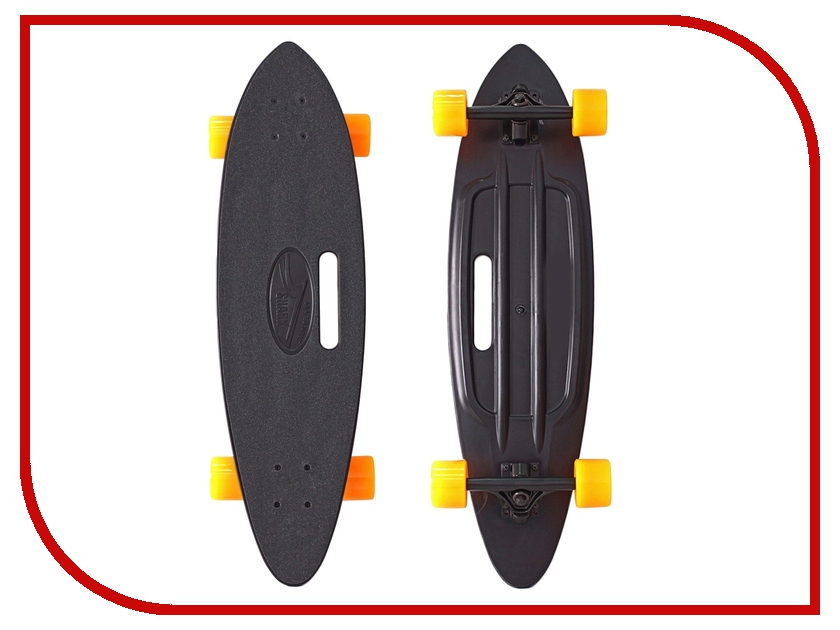 Скейт Y-SCOO Longboard Shark Black-Orange 409-B