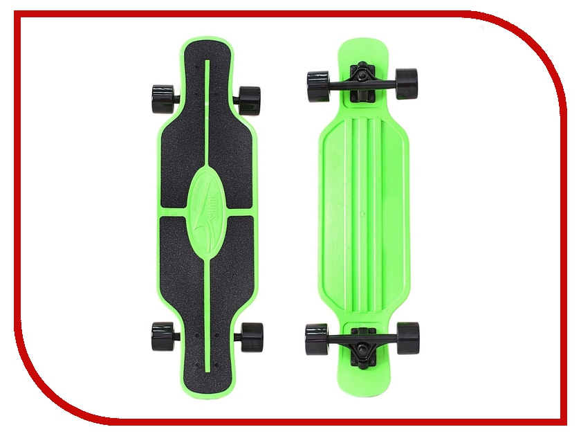 Лонгборд Y-SCOO Longboard Shark Tir Green-Black 408-G<br>