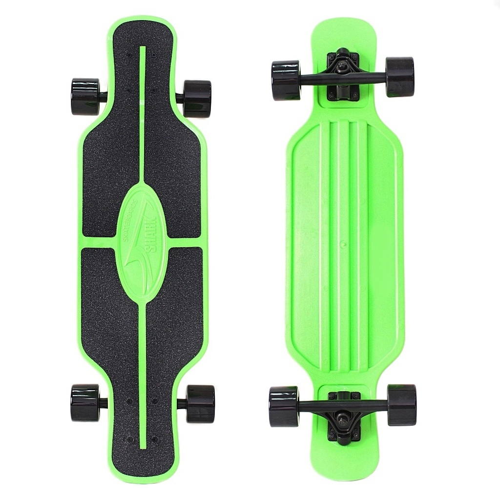 Скейт Y-Scoo Longboard Shark Tir Green-Black 408-G скейт y scoo big fishskateboard 27 purple green 402 pr