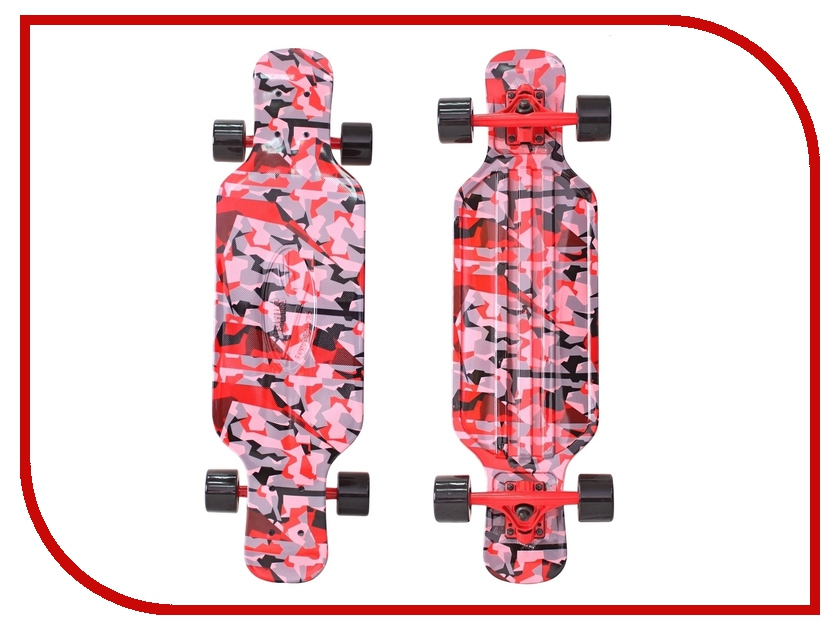 Скейт Y-SCOO Longboard Shark Tir 31 Chaos Red-Black 408-Ch