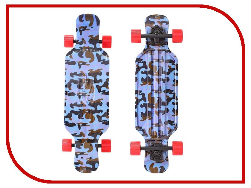 Скейт Y-SCOO Longboard Shark Tir 31 Blue Army Blue-Red 408-Ba
