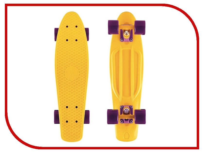 Скейт Y-SCOO Big Fishskateboard 27 Yellow-Dark Purple 402-Y