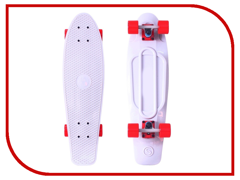 Скейт Y-SCOO Big Fishskateboard 27 White-Red 402-W