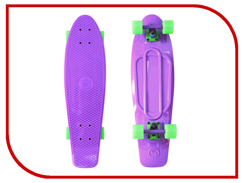 Скейт Y-SCOO Big Fishskateboard 27 Purple-Green 402-Pr y scoo