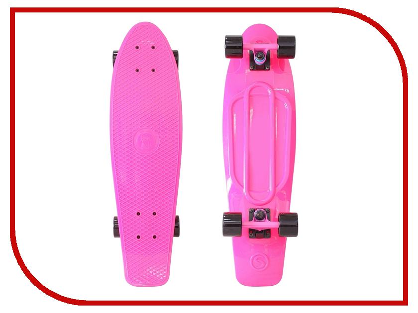 Скейт Y-SCOO Big Fishskateboard 27 Pink-Black 402-P