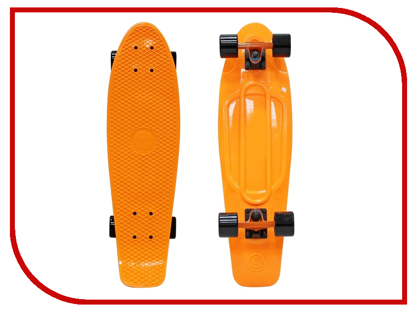 Скейт Y-SCOO Big Fishskateboard 27 Orange-Black 402-O