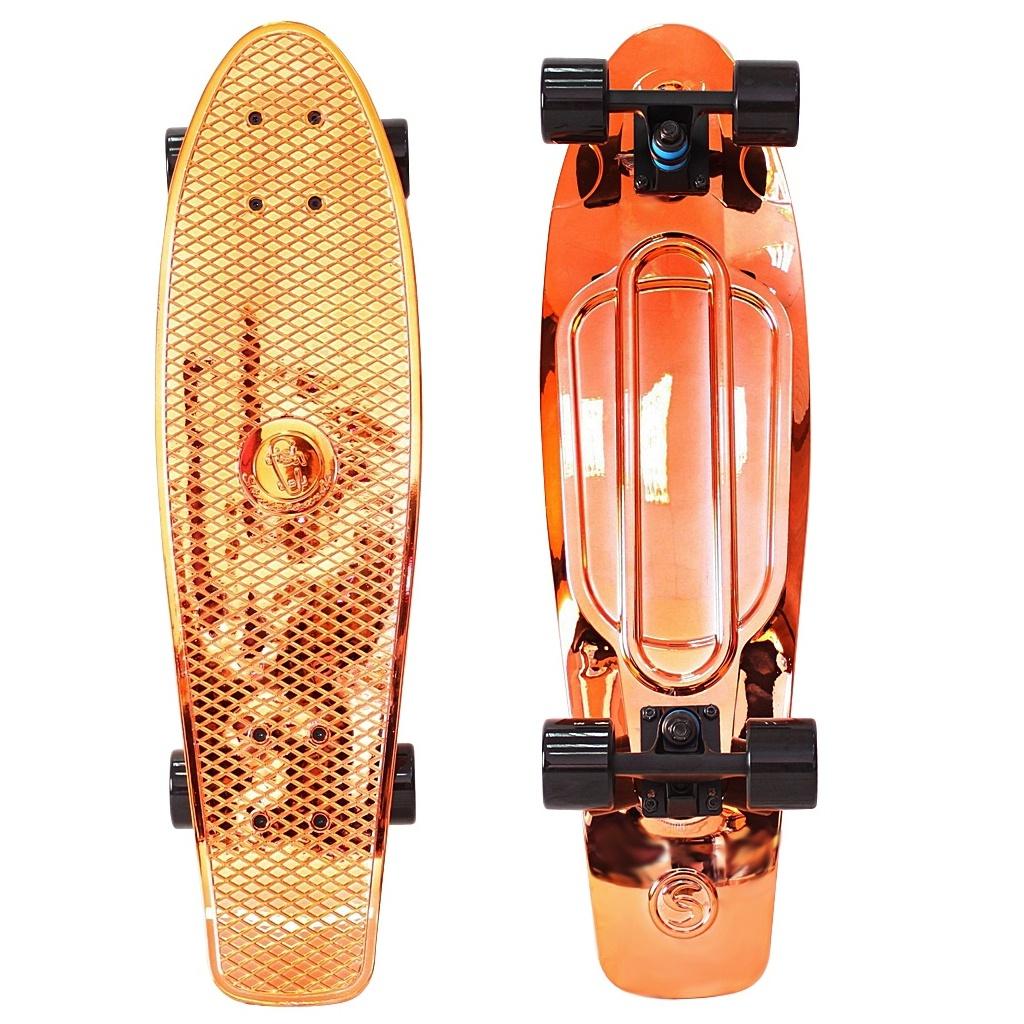Скейт Y-Scoo Big Fishskateboard Metallic 27 Orange-Black 402H-O