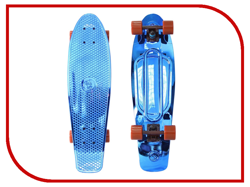 Скейт Y-SCOO Big Fishskateboard Metallic 27 Blue-Brown 402H-Bl