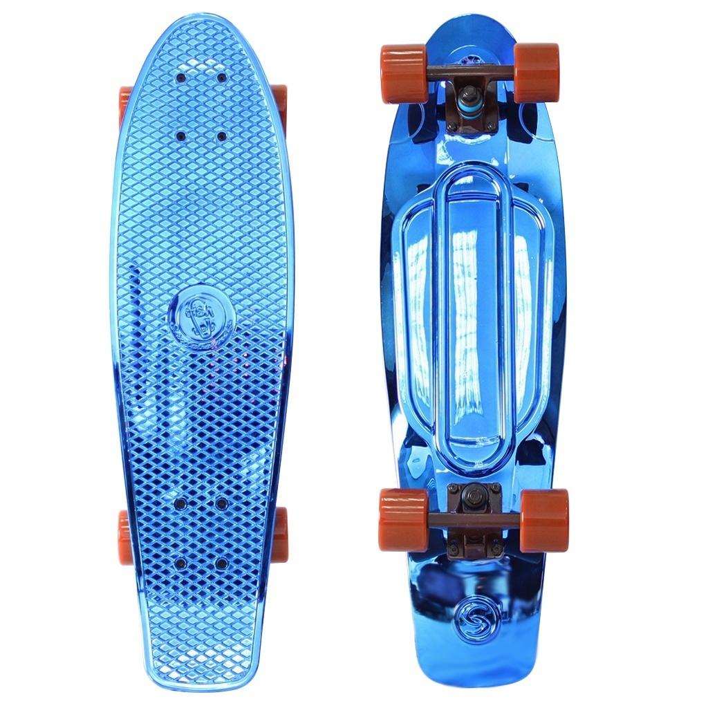 Скейт Y-Scoo Big Fishskateboard Metallic 27 Blue-Brown 402H-Bl