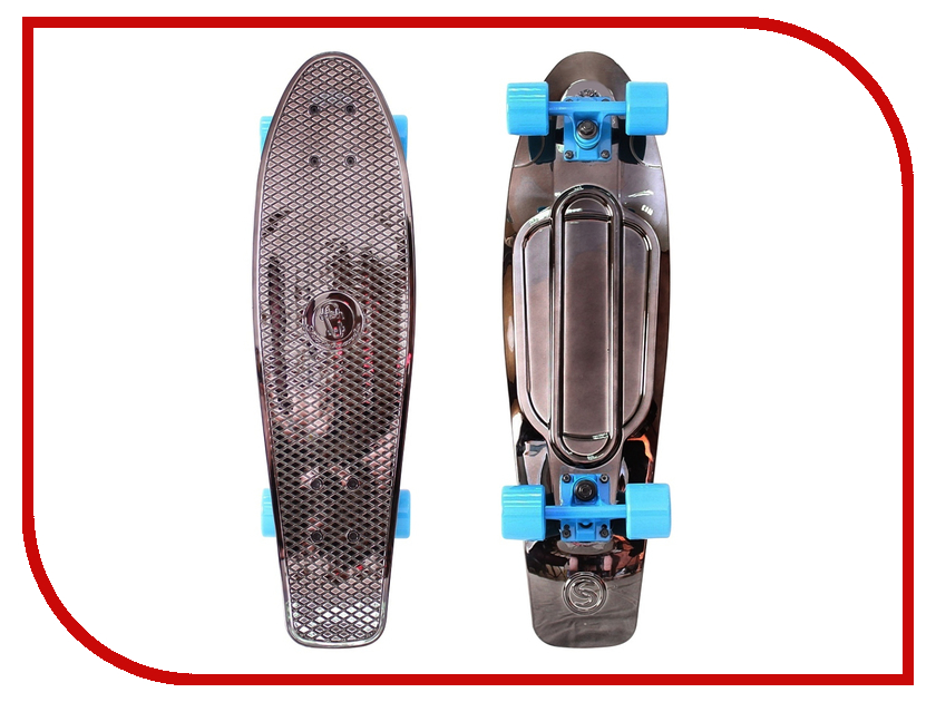 Скейт Y-SCOO Big Fishskateboard Metallic 27 Black Bronzat-Blue 402H-Bb<br>