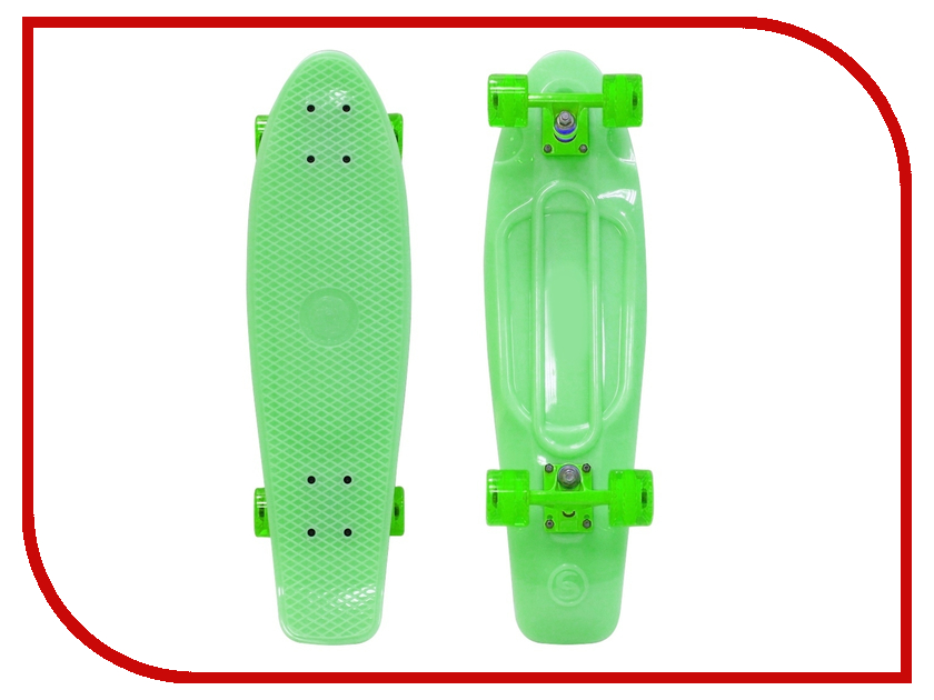 Скейт Y-SCOO Big Fishskateboard Glow 27 Green-Green 402E-G
