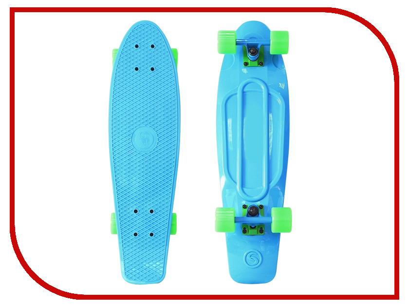 Скейт Y-SCOO Big Fishskateboard 27 Blue-Green 402-B<br>