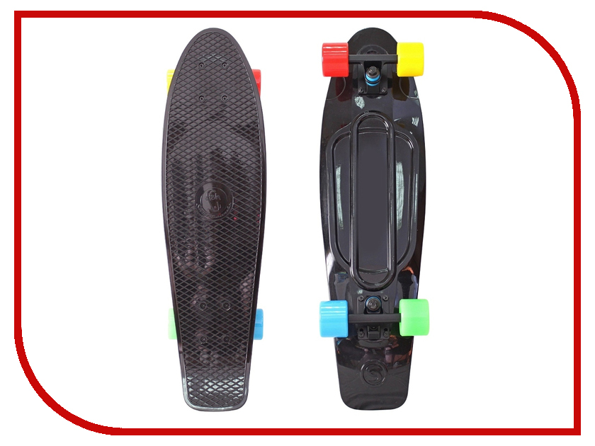 Скейт Y-SCOO Big Fishskateboard 27 Black-Blue-Yellow-Red 402-B4