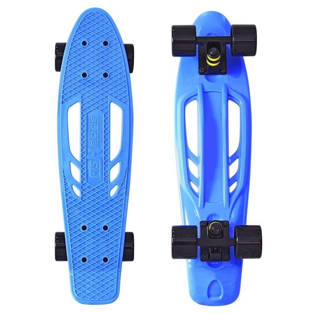 Скейт Y-Scoo Skateboard Fishbone 22 Blue-Black 405-B скейт y scoo big fishskateboard 27 purple green 402 pr