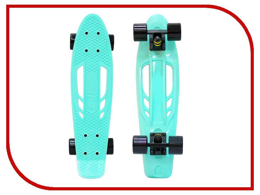 Скейт Y-SCOO Skateboard Fishbone 22 Aqua-Black 405-A