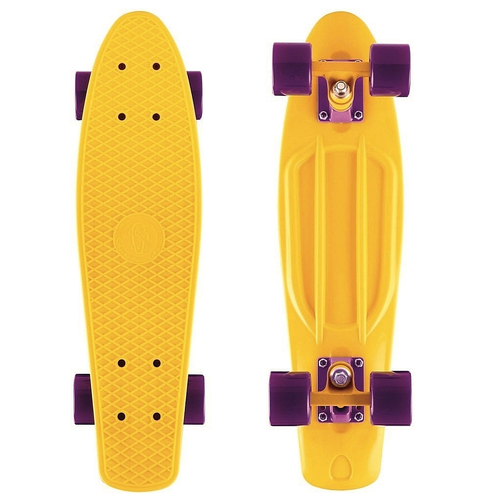 Скейт Y-Scoo Fishskateboard 22 Yellow-Dark Purple 401-Y