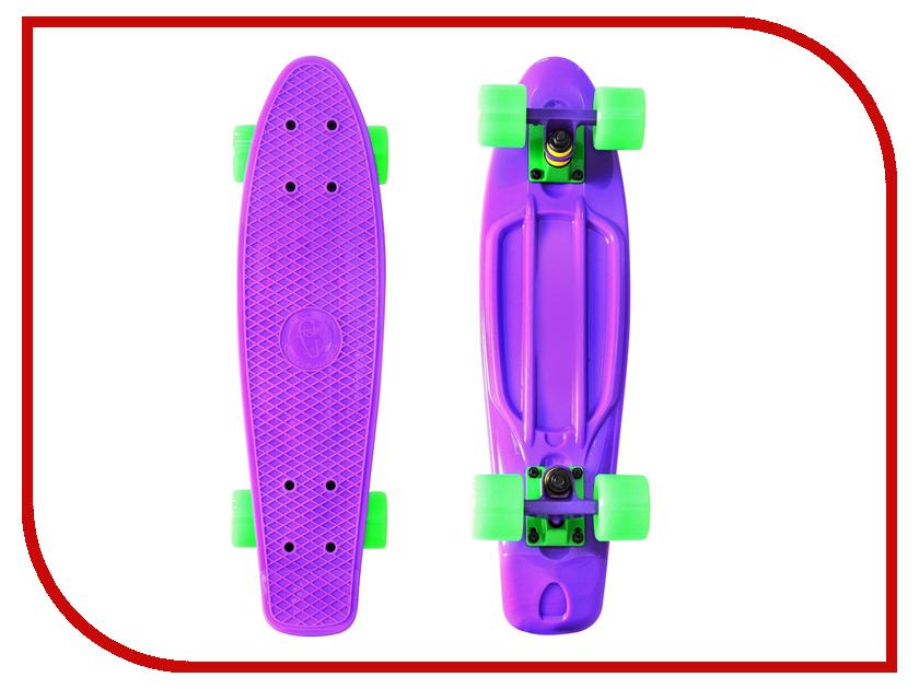 Скейт Y-SCOO Fishskateboard 22 Purple-Green 401-Pr