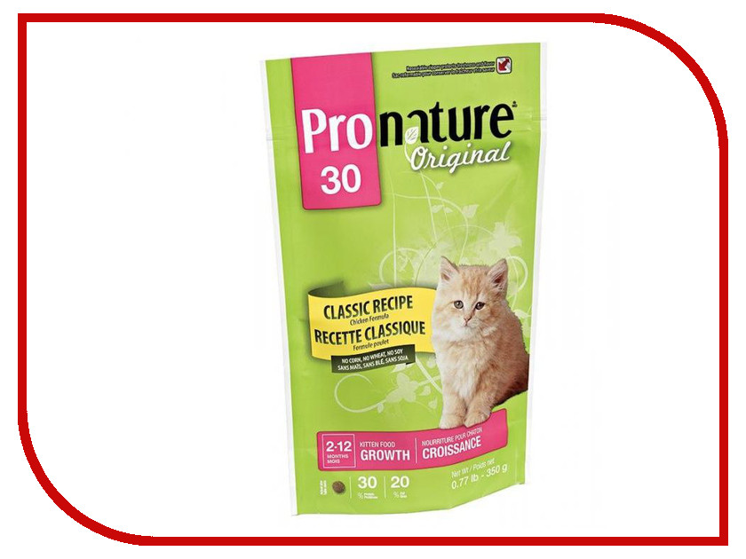 Корм Pronature Цыпленок 350g для котят 102.440<br>