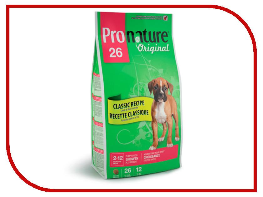 Корм Pronature 26 Формула роста Ягненок/Рис 2.72kg для щенков 102.551<br>