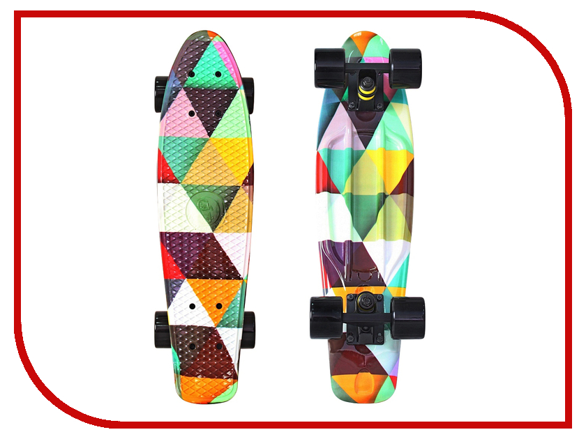 Скейт Y-SCOO Fishskateboard Print 22 Triddent 401G-T
