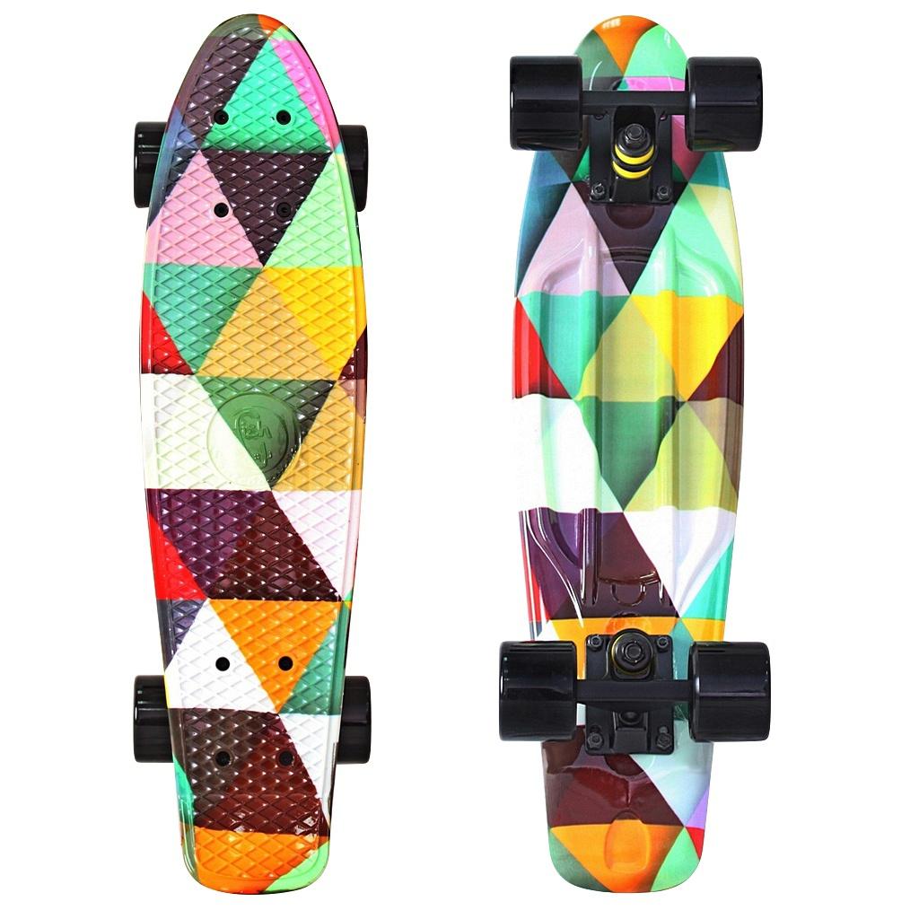цена Скейт Y-Scoo Fishskateboard Print 22 Triddent 401G-T онлайн в 2017 году