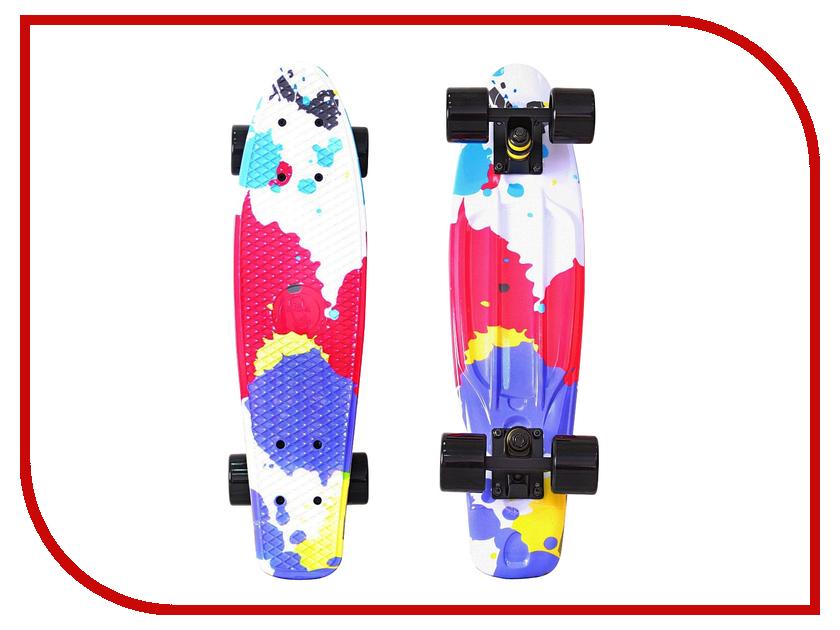 Скейт Y-SCOO Fishskateboard Print 22 Splatter 401G-Sp