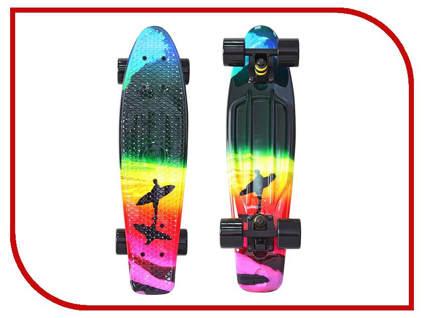 Скейт Y-SCOO Fishskateboard Print 22 Offshore 401G-O y scoo mini glam купить