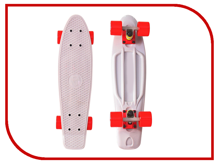 Пенниборд Y-SCOO Fishskateboard 22 Grey-Red 401-G