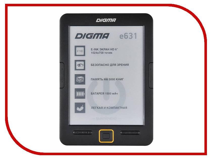 Электронная книга Digma E631 Black