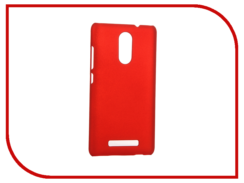 Аксессуар Чехол Xiaomi Redmi Note 3 SkinBox 4People Red T-S-XRN3-002