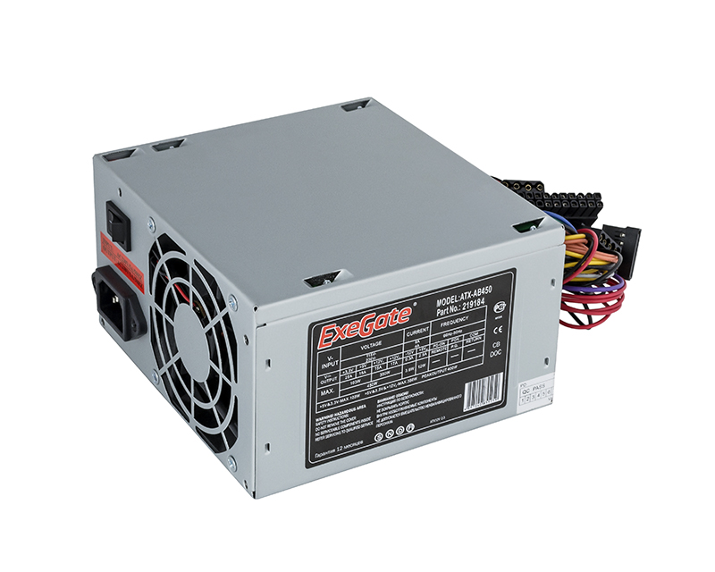 Блок питания ExeGate ATX-AB450 450W Grey EX219184RUS блок питания superpower qori 450w