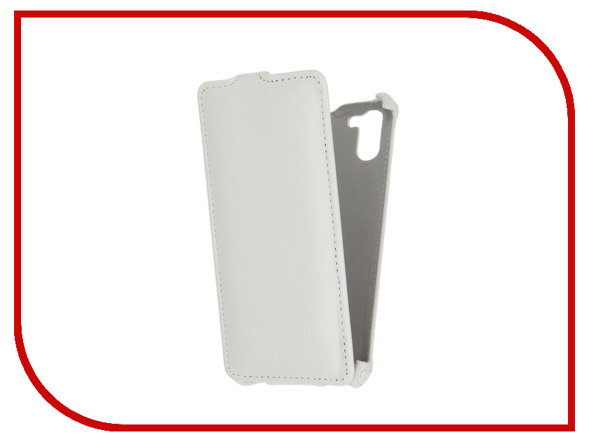 Аксессуар Чехол Ginzzu S5140 Gecko White GG-F-GINS5140-WH