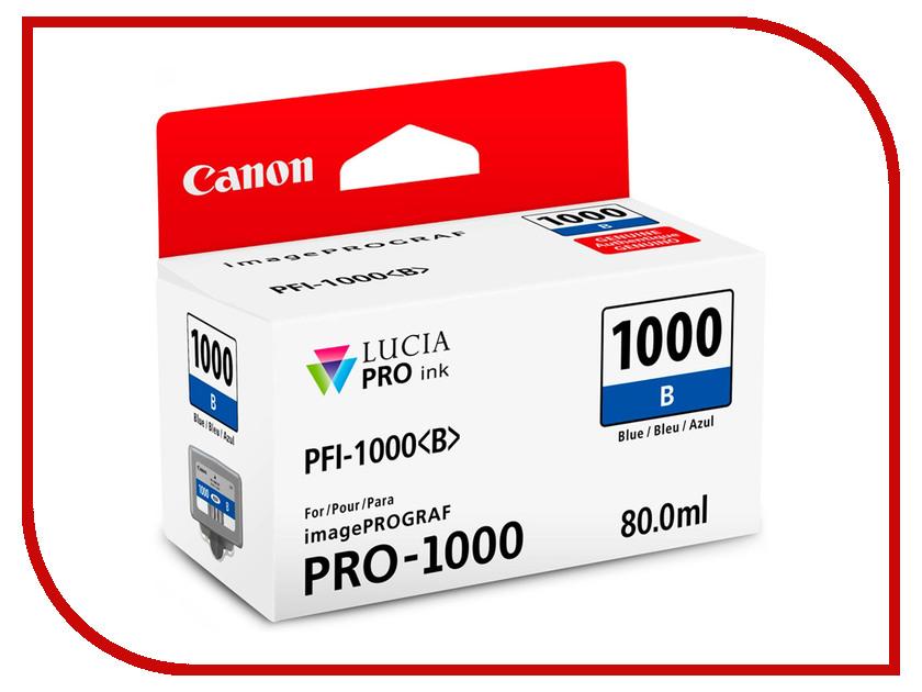 Картридж Canon PFI-1000B Blue 0555C001 картридж canon pfi 207m 8791b001