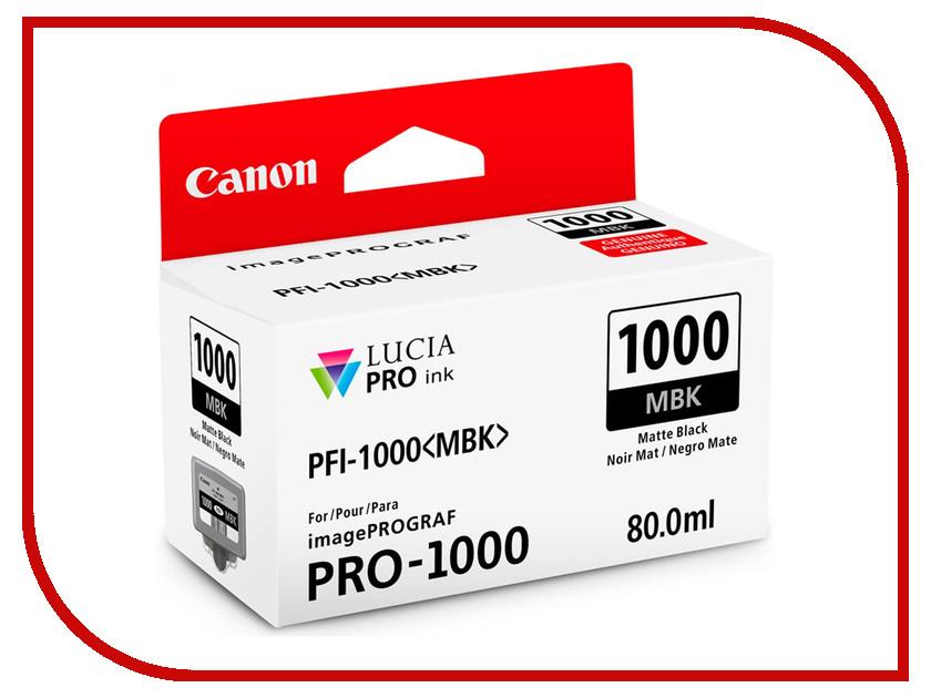 Картридж Canon PFI-1000MBK Matte Black