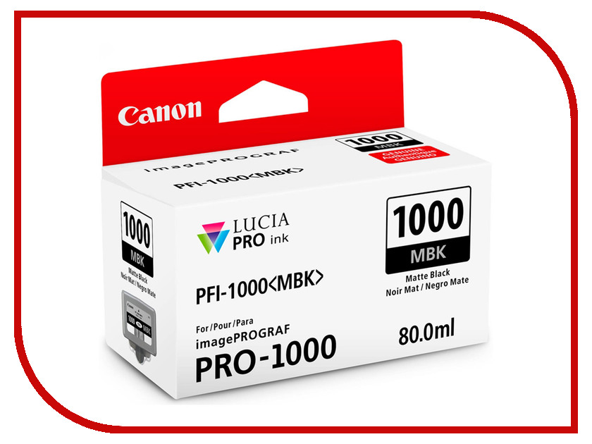 Картридж Canon PFI-1000 PBK Photo Black 0546C001<br>