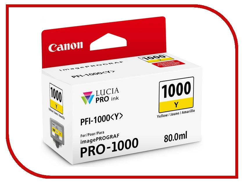 Картридж Canon PFI-1000 Y Yellow 0549C001<br>
