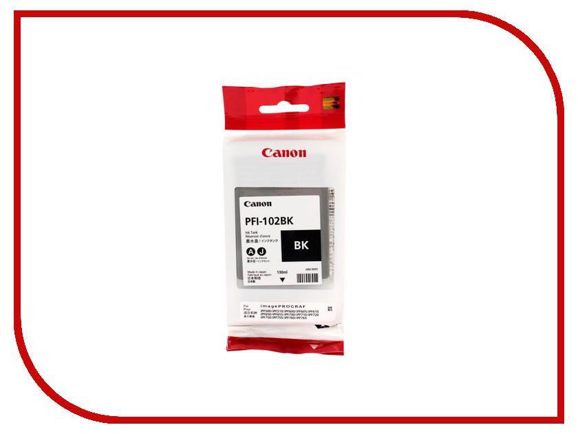 Картридж Canon PFI-102BK Black для IPF-500/600/700 0895B001 картридж canon pfi 307m magenta 330ml для ipf 830 840 850 9813b001