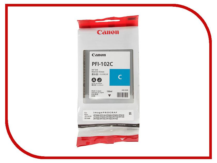 Картридж Canon PFI-102 C 0896B001 для IPF-500/600/700 Cyan<br>
