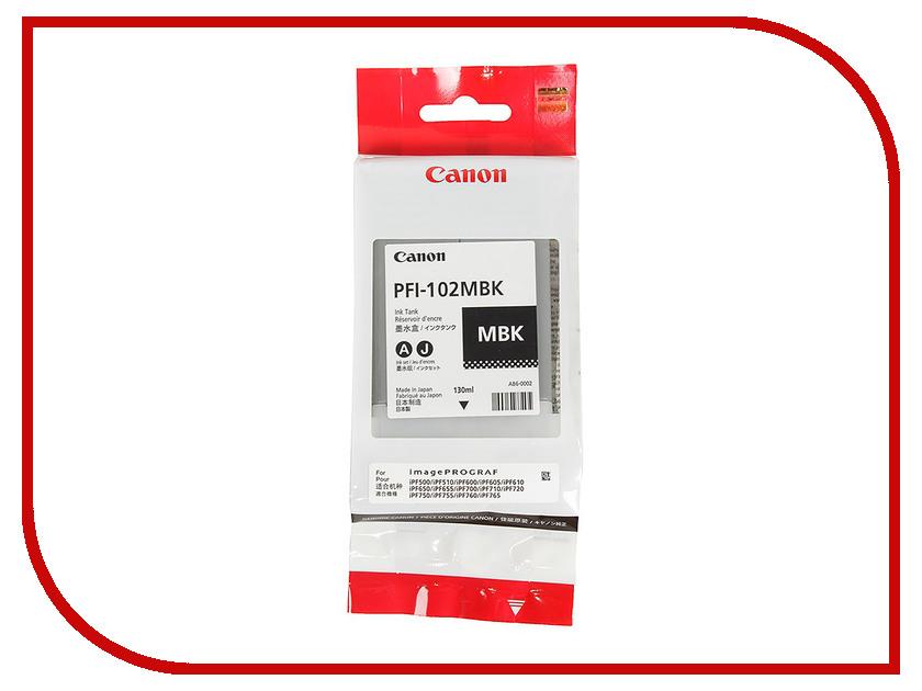 Картридж Canon PFI-102MBK Matte Black для IPF-500/600/700 0894B001 canon pfi 206 mbk matte black