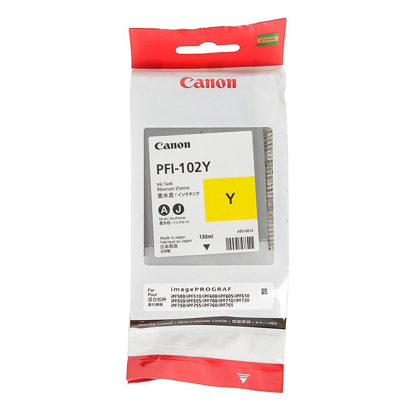Картридж Canon PFI-102Y Yellow для IPF-500/600/700 0898B001