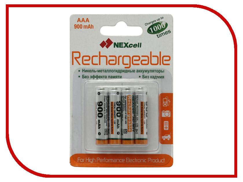 Аккумулятор AAA - NEXcell 900 mAh Ni-MH AAA900mAh (4 штуки)