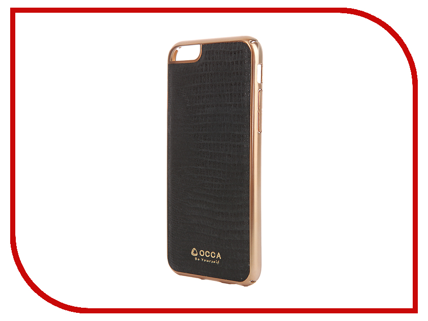 Аксессуар Чехол OCCA Lizard Collection для APPLE iPhone 6/6S Black<br>