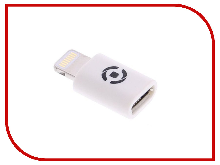 Аксессуар Celly MicroUSB - Lightning White ADLIGHTWH<br>