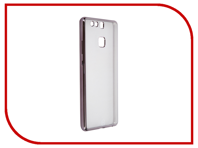 Аксессуар Чехол Huawei P9 Celly Laser Transparent-Dark Grey BCLP9DS