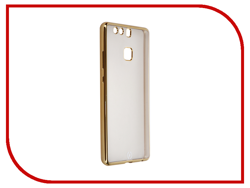 Аксессуар Чехол Huawei P9 Celly Laser Transparent-Gold BCLP9GD<br>